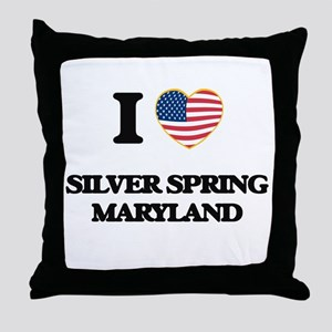 I love Silver Spring Maryland Throw Pillow