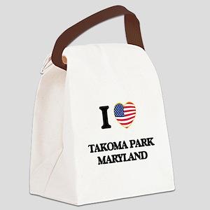 I love Takoma Park Maryland Canvas Lunch Bag