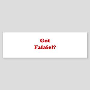 Got Falafel? Bumper Sticker