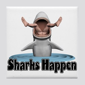 Sharks Happen Tile Coaster