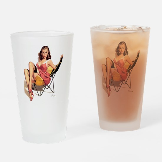 pinup Drinking Glass