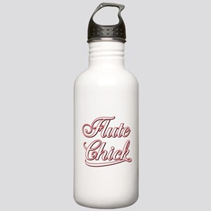 White Flute Chick Scri Stainless Water Bottle 1.0L