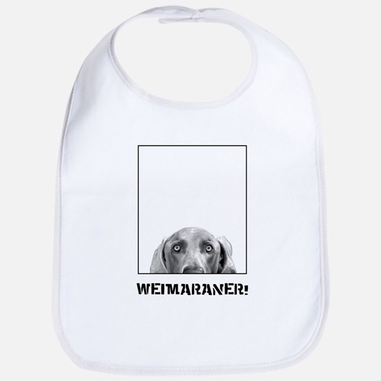 Weimaraner In A Box! Bib