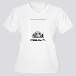 Weimaraner In A Box! Women's Plus Size V-Neck T-Sh