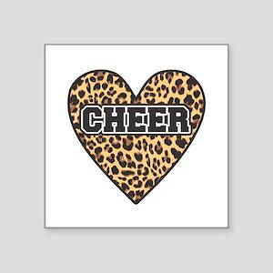 Leopard Cheer Heart Sticker
