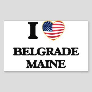 I love Belgrade Maine Sticker