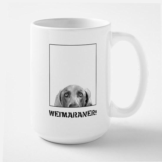 Weimaraner In A Box! Large Mug