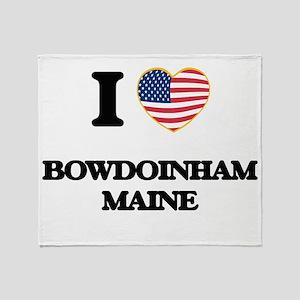 I love Bowdoinham Maine Throw Blanket