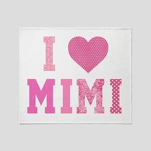 I love Mimi Pink Throw Blanket