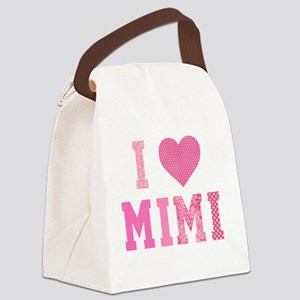 I love Mimi Pink Canvas Lunch Bag