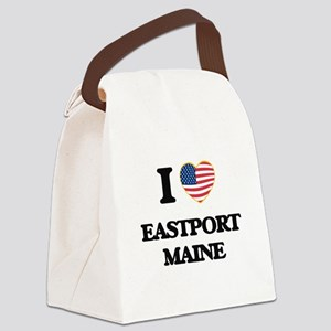 I love Eastport Maine Canvas Lunch Bag