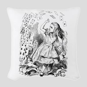 Alice In Wonderland Woven Throw Pillow