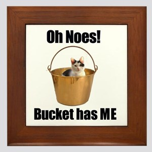 Bucket has lolcat Framed Tile