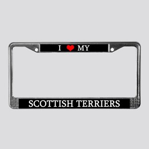 Love Scottish Terriers License Plate Frame