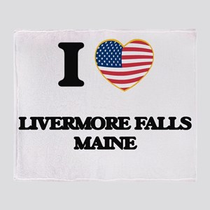 I love Livermore Falls Maine Throw Blanket
