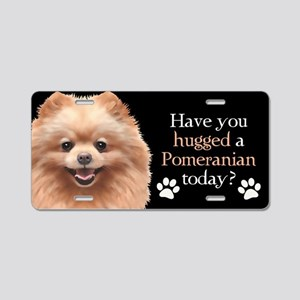 Pom Hug Aluminum License Plate