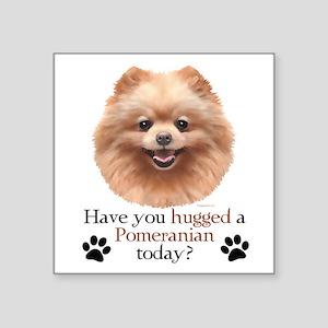 "Pom Hug Square Sticker 3"" x 3"""