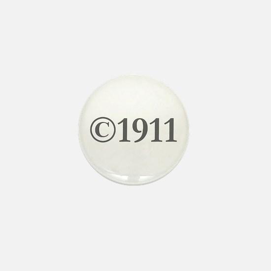 Copyright 1911-Gar gray Mini Button