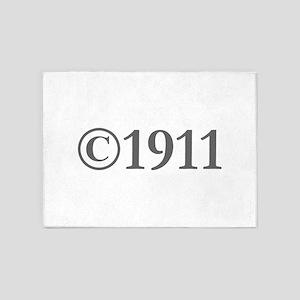 Copyright 1911-Gar gray 5'x7'Area Rug