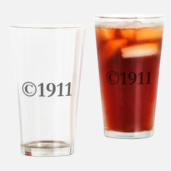 Copyright 1911-Gar gray Drinking Glass