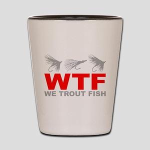 TROUT FISHING Shot Glass