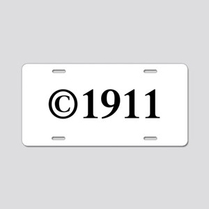 Copyright 1911-Tim black Aluminum License Plate