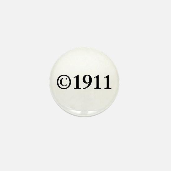Copyright 1911-Tim black Mini Button