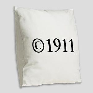 Copyright 1911-Tim black Burlap Throw Pillow