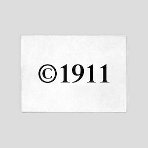 Copyright 1911-Tim black 5'x7'Area Rug