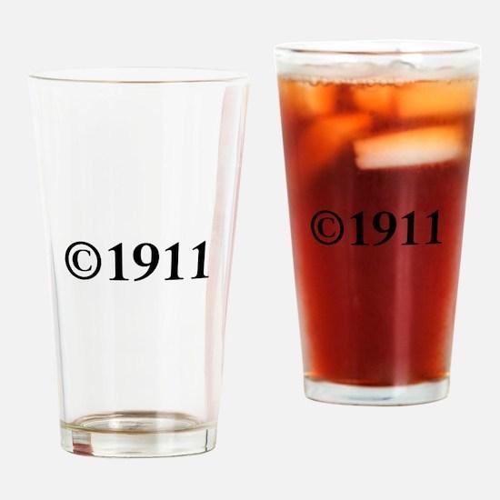Copyright 1911-Tim black Drinking Glass