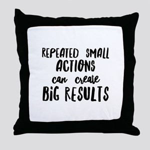 Big Results Throw Pillow