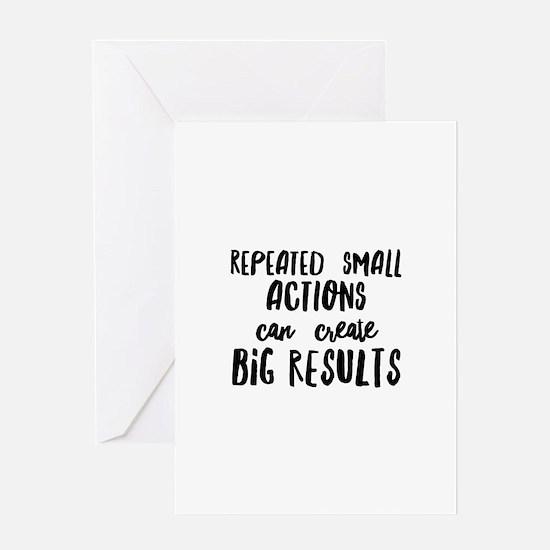 Big Results Greeting Card