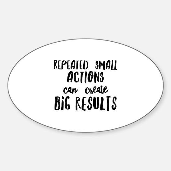 Big Results Sticker (Oval)