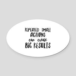 Big Results Oval Car Magnet