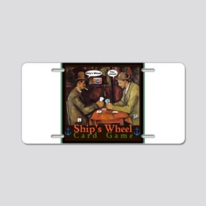 Ships Wheel Card Game Aluminum License Plate