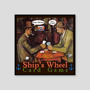 Ships Wheel Card Game Sticker
