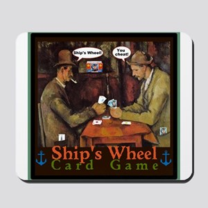 Ships Wheel Card Game Mousepad