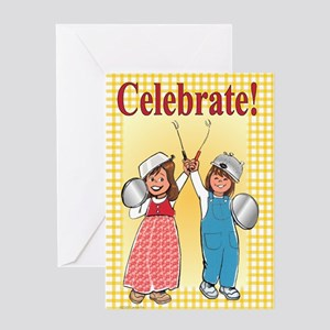Kitchen Knights Blank Greeting Card