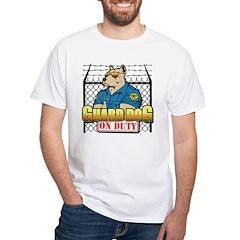 Guard Dog On Duty White T-Shirt