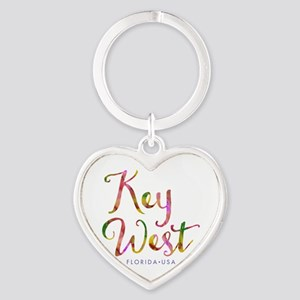 Key West - Heart Keychain