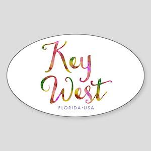 Key West - Sticker (Oval)
