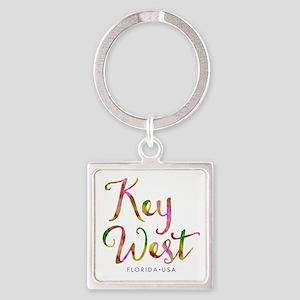 Key West - Square Keychain