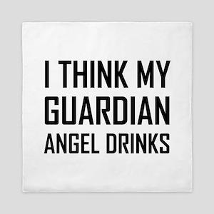 Guardian Angel Drinks Queen Duvet