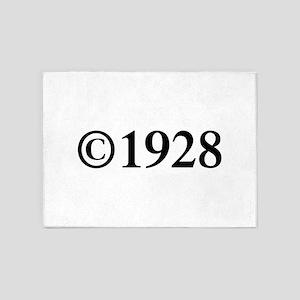Copyright 1928-Tim black 5'x7'Area Rug