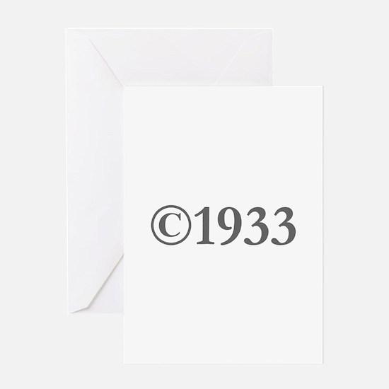 Copyright 1933-Gar gray Greeting Cards