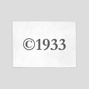 Copyright 1933-Gar gray 5'x7'Area Rug