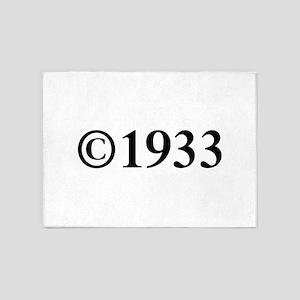 Copyright 1933-Tim black 5'x7'Area Rug