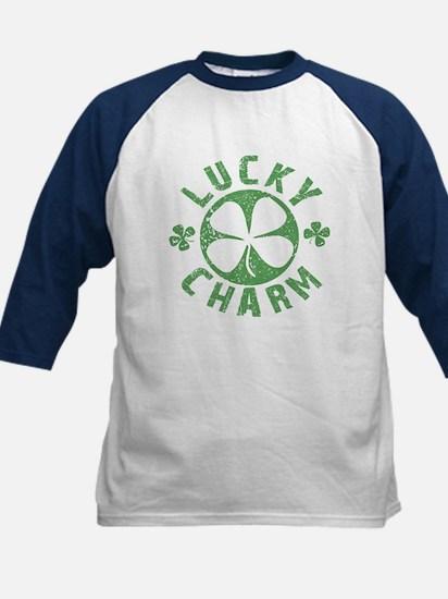Lucky Charm 4 Leaf Clover Kids Baseball Jersey