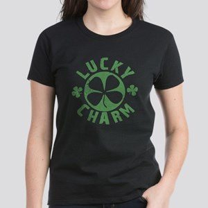 Lucky Charm 4 Leaf Clover Women's Dark T-Shirt