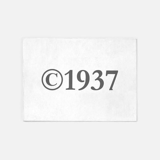 Copyright 1937-Gar gray 5'x7'Area Rug